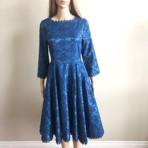 Dresses & Skirts - Lindy Bop Blue Dress M EUC